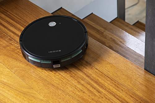 IKOHS NETBOT S15 - Robot Aspirador y Fregasuelos 4 en 1, mapeo navegación Inteligente y App, Barre, aspira, friega y Pasa la mopa, Especial Mascotas, para Suelos Duros y Alfombras (Negro-Turquesa)