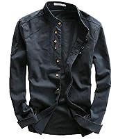 Heaven Days(ヘブンデイズ) シャツ 長袖 Yシャツ 長袖シャツ カジュアル 胸ポケット 麻 リネン メンズ 1904F0313
