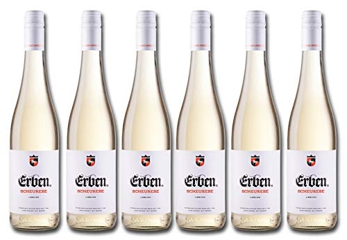 Erben Scheurebe Lieblich – Weißwein aus Deutschland – Qualitätswein – 6 x 0.75 l