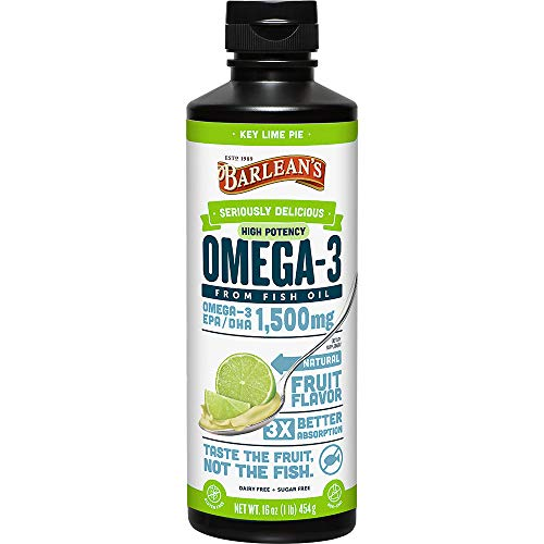 Barlean Seriously Delicious Omega3 High Potency Fish Oil Key Lime Pie 16oz
