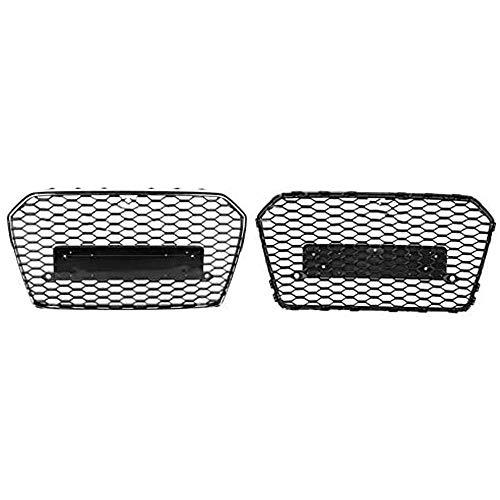 4144T6fnOgL - BTSDLXX Auto Front Sport Kühlergrille, für Audi A6 / S6 C7 2015 2016 2017 2018 Nierengitter Stoßstangengrill Kühlung Kühler Luftansauggitter Dekoratives Zubehör, Schwarz, ABS
