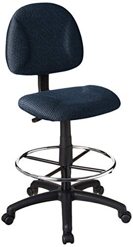 Boss Office Products Ergonomic Works Drafting Chair without Arms in Blue