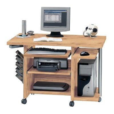 Jahnke 129D1 Computer Tisch CPL 120 Kernbuche Nachbildung 117,6 x 80 x 70 cm