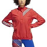 adidas Run It 3 Stripe Anorak - Chaqueta para mujer, Mujer, Chaqueta, ED9320, rojo, M