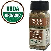El orgullo de la India - Semilla de coriandro de tierra, 2,6 oz (73 g) Auténtico especie culinaria india, la mejor salchicha - Compre 1 lleve 1 GRATIS (MEZCLA Y PARTIDO - el fomento APLICA A PAGAR)