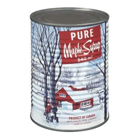 pure maple syrups Pure Maple Syrup, Canada No 1 Medium,can 540ml Made in Canada