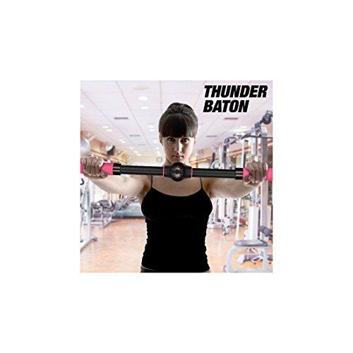 Apolyne Thunder Baton Barra de Ejercicios Realzasenos, Unisex adulto, Negro, Única