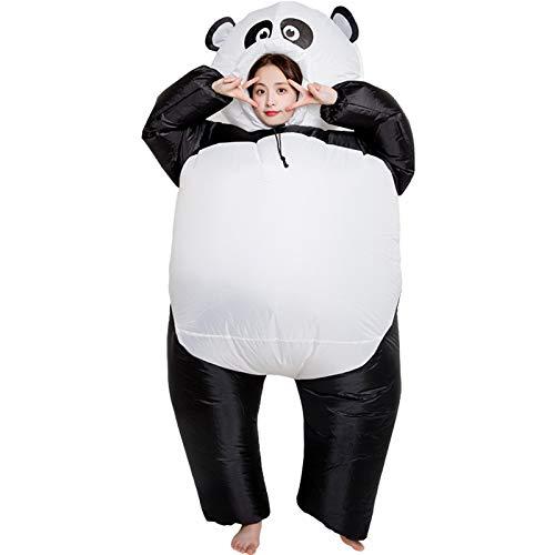 JUNENG Aufblasbares Kostüm, Panda Blow-up Suit, Cosplay Design Inflatable Costume für Männer Frauen,Schwarz,one Size
