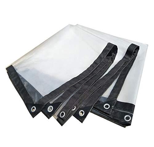 DUCCM Transparent Tarpaulin, Reversible PE Tarpaulin Waterproof Reinforced Edges Lightweight Multi-Purpose for Pool Cover RV Car (Color : Clear, Size : 1x2m)