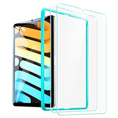 ESR Bildschirmschutzfolie 2 Stück kompatibel mit iPad Mini 6 2021, kompatibel mit iPad Mini 2021 6. Generation, HD klare, kratzresistente Panzerglas Bildschirmschutzfolie mit Positionierhilfe