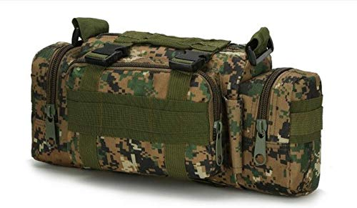 YYMMQQ Zaino da Esterno,Top Outdoor Military Tactical Waist Bag Waterproof Nylon Camping Hiking Backpack Pouch Hand Bag Mochila Military,Jungle Digital,Other
