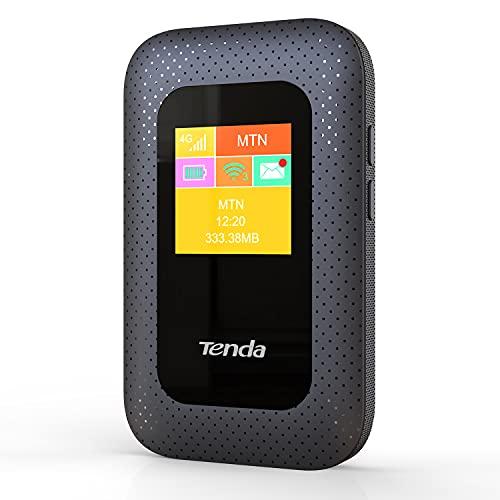 Tenda 4G185 V2.0 Mobiler WLAN Router (4G/LTE bis zu 150Mbit/s Download/ 50Mbit/s Upload, Hotspot, Cat.4), 2000mAh Akku, kompatibel mit Allen SIM Karten, Plug & Play