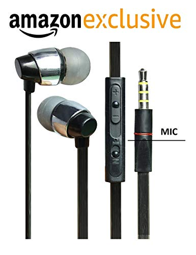 in-Ear Headphones Earphones for Gionee S6s / Gionee S 6s, Gionee S8 / Gionee S 8, Gionee S96 / Gionee S 96, Gionee V185 / Gionee V 185, Gionee V188 / Gionee V 188, Gionee W900 / Gionee W 900, Gionee X1, Gionee X1s Earphones Wired Stereo Bass Head Hands-Free Headset Earbud with Mic, Calling 3.5mm Jack, Music, In-Line Mic & HD Sound, Universal Wired, Super Extra Dolby sound
