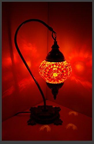 Mosaiklampe Mosaik - Stehlampe M Tischlampe orientalische lampe Orange Samarkand-Lights