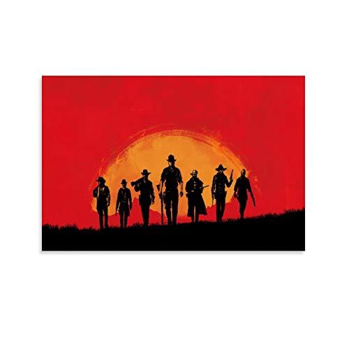 Red Dead Redemption 2 Impression sur toile et tableau mural 40 x 60 cm