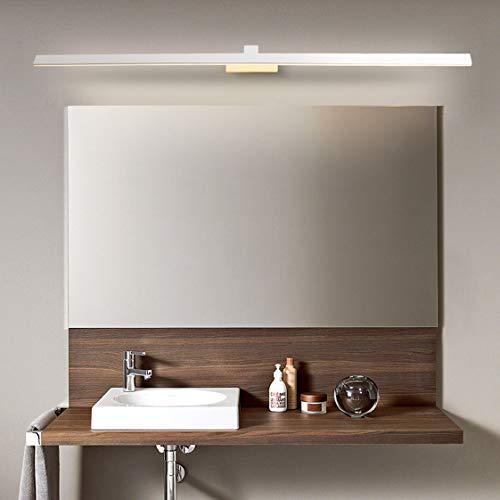 HMAKGG Lámpara de Espejo Baño, Aplique Espejo Baño Blanca Neutra 4000K IP44 contra Niebla para Baño, Lamparas Baño No Regulable Lámpara de Espejo Iluminación para Maquillaje,Blanco,20W/102CM