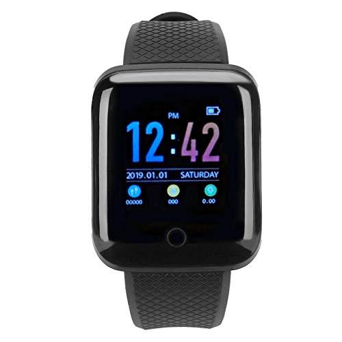 DAUERHAFT Reloj Deportivo con Carga USB Larga Vida útil D13 Negro Pantalla a Color de 1,3 Pulgadas, Ciclismo, para Deportes(Black)