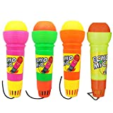 NUOBESTY 4pcs Echo Mic Kids Microphone Toy Voice Changing Recording Karaoke Toys Early Development Toy for Kids Children Party Favor Random