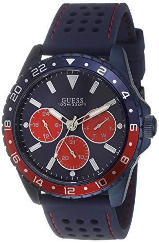Guess Homme Uhr Analogique Quartz mit Silicone Armband W1108G1