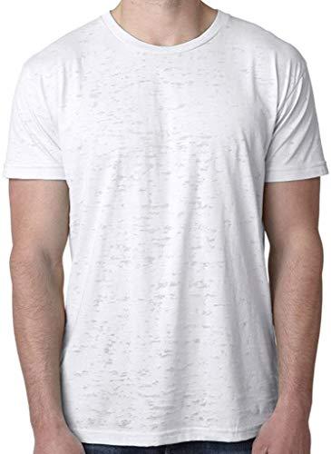 Yoga Clothing For You Mens Lightweight Burnout Tee Shirt, Medium White
