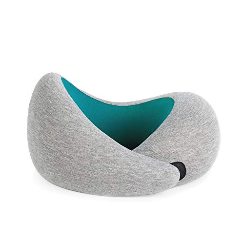 OSTRICHPILLOW GO Travel Pillow for Car & Airplane Neck Support with Travel Bag - Memory Foam Travel Accessories for Power Nap on Flight