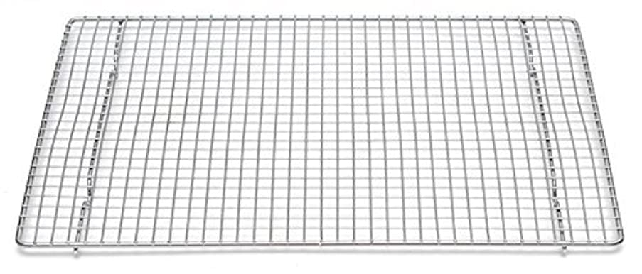 Professional Cross Wire Cooling Rack Half Sheet Pan Grate - 16-1/2 x 12 Drip Screen by Libertyware