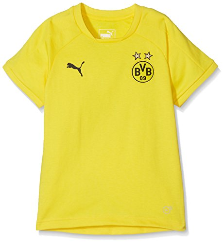 PUMA Kinder BVB Casual Tee Without Sponsor Logo Trainingsshirt, Cyber Yellow, 152