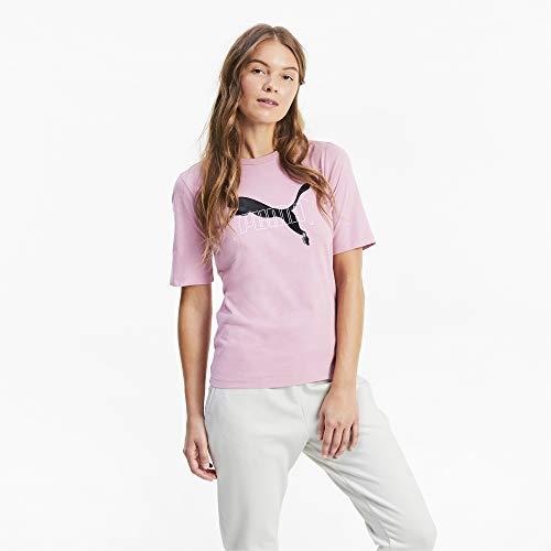 PUMA Nu-tility Tee Damen-T-Shirt L Rosa