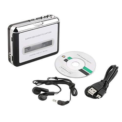 Ballylelly Captura de Cassette USB Reproductor de Cinta a PC Convertidor de Casete a MP3 súper portátil Captura Reproductor de música de Audio