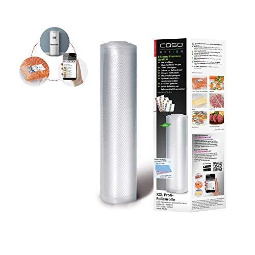 CASO Profi- Folienrollen 40x1000 cm / 1 Rolle, für alle Balken Vakuumierer, BPA-frei, sehr stark & reißfest ca. 150µm,kochfest, Sous Vide geeignet, wiederverwendbar, für Folienschweißgeräte geeignet