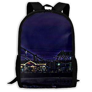 4144aTKBTAL. SS300  - hengshiqi Mochila Backpack, Adult Backpacks Boy's Shoulder Bag Daypack School Season Santa Monica Ferris Wheel Traveling…