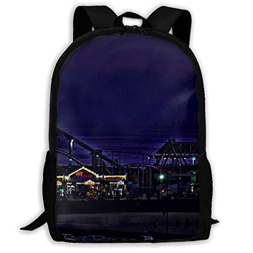 hengshiqi Mochila Backpack, Adult Backpacks Boy's Shoulder Bag Daypack School Season Santa Monica Ferris Wheel Traveling…