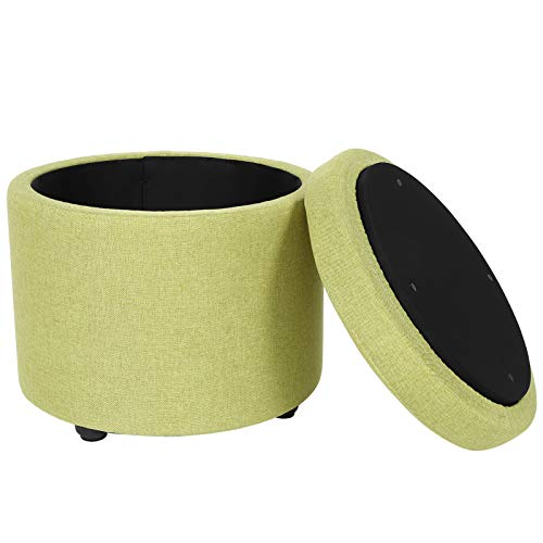 Omabeta Inicio Muebles Cojín Reposapiés Portátil Multifuncional Reasonable Tamaño Caja de Almacenamiento para Muebles de Hogar (verde)