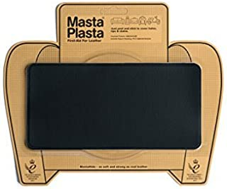 MastaPlasta Self-Adhesive Patch for Leather and Vinyl Repair, Large, Black - 8 x 4 Inch