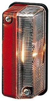 HELLA 2XS 005 020-001 Umrissleuchte - T4W - 24V - Lichtscheibenfarbe: glasklar/rot/weiß - Anbau - Einbauort: links/oben/rechts/seitlicher Anbau