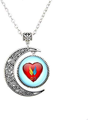 Twin flam Pendant Twin Flame Love Moon Necklace Twin Flame Jewelry Heart Charm Jewelry Soul Mate Jewelry