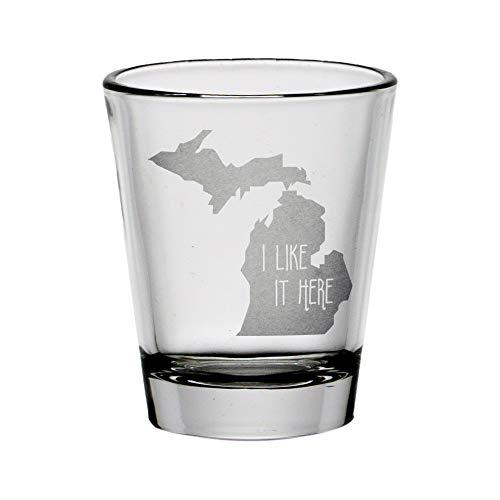 Michigan I Like It Here Shot Glass