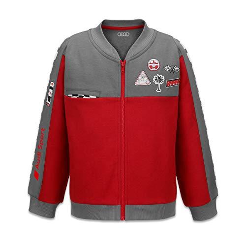 Audi Sport Sweatjacke Racing, Kleinkinder, grau/rot, 122/128
