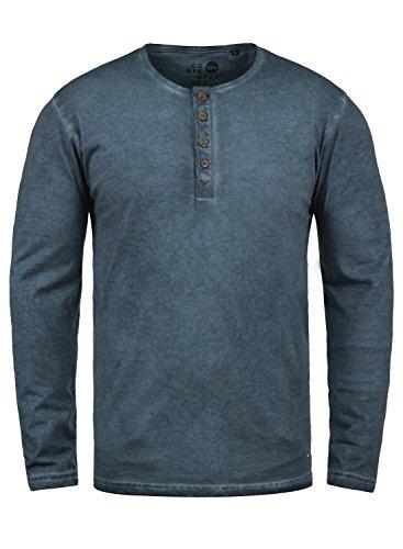 !Solid Timur Herren Longsleeve Langarmshirt mit Grandad- Ausschnitt aus 100{299a626bdbb50efe003f7668e9586b0f8d5cfa0c365dedd657271c7e0957bdb1} Baumwolle Slim Fit Meliert, Größe:L, Farbe:Insignia Blue (1991)