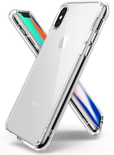 Custodia iPhone X, Ringke [FUSION] Crystal Clear Transparente [Goccia di protezione assorbimento di scossa Tecnologia] alzata della calotta di protezione Mascherine per Apple iPhone X - Chiaro (Clear)