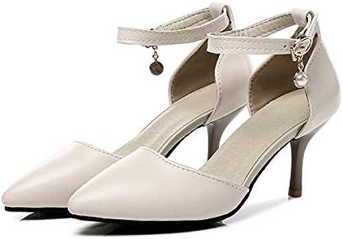HommesGLTX Talon Aiguille Talons Hauts Sandales 2019 Nouvelle Mode Femmes Chaudes Pompes Pompes à Bout Pointu Chaussures D'été Boucle Talons Aiguilles Chaussures De Mariage Chaussures Femme