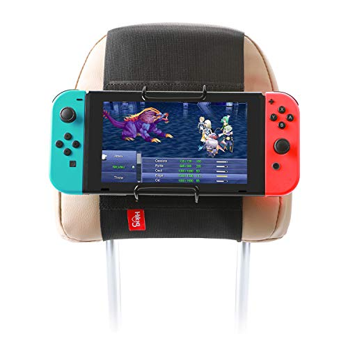 Hikig Car Headrest Mount Holder for Nintendo Switch Game Machine, Smart Phone and Other Tablets / Also fit for Planes Tray Table