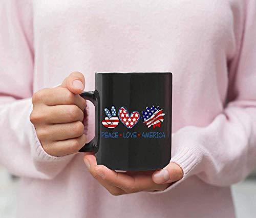 N\A Paz Amor Girasol 4 de Julio Camiseta café de cerámica Taza de café Taza de café Taza mugreeva