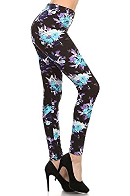 R507-PLUS Mystic Rose Print Fashion Leggings