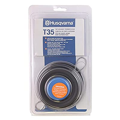 Husqvarna 537388101 Universal T35 Tap Advance Straight Shaft String Trimmer Head Prewound With .095-Inch Line