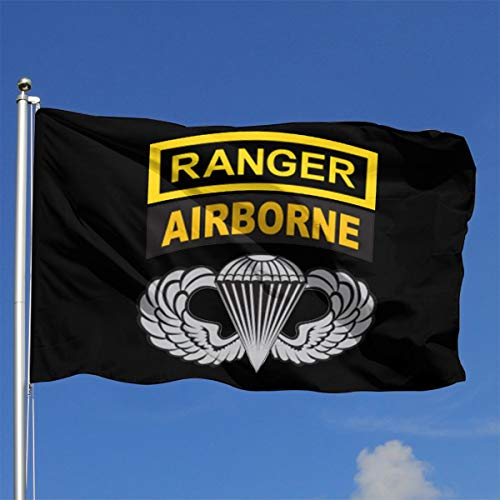 US Army Ranger Tab Airborne and Wings Outdoor Flag Home Garden Flag Banner Breeze Flag USA Flag Decorative Flag 4x6 Ft Flag
