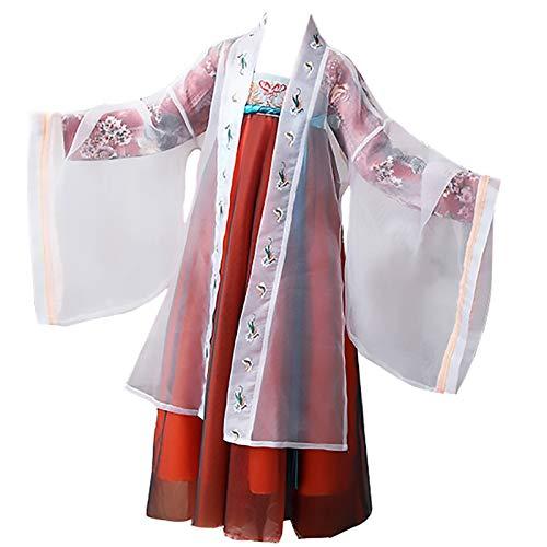 XYW Girls 'Hanfu - Bambina Super Firoglia Abito in Costume Biancheria Intima, Abbigliamento per Bambini, Stile Antico, Abito da Bambini in Stile per Bambini, Abito Autunnale Stile Cinese