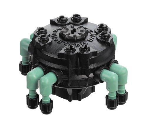 10 Pack - Orbit Adjustable Flow 8-Port Drip Irrigation Manifold for 1/4 Inch Tube