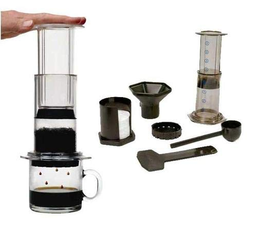 Aeropress Aerobie with tote bag and BaristaKit Stainless Steel Reusable Filter