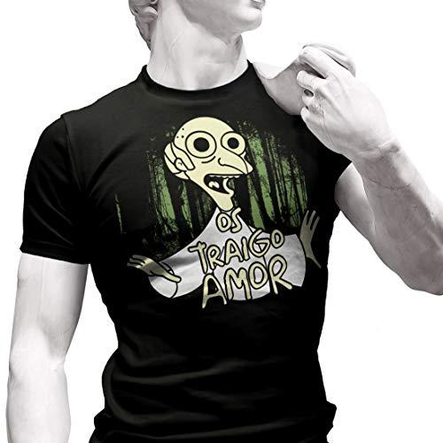 Os traigo Amor - Camiseta de Manga Corta (XL)